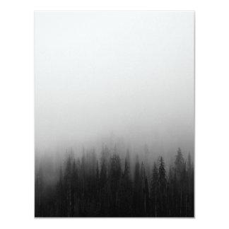 Waldnatur-Landschaftsszenen-nebeliges mystisches 10,8 X 14 Cm Einladungskarte
