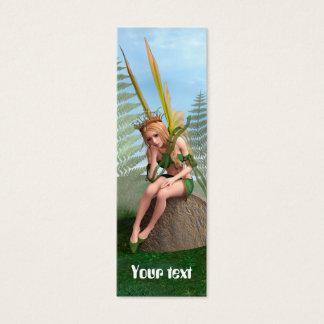 Waldprinzessin, feenhafter Schmetterling Mini Visitenkarte