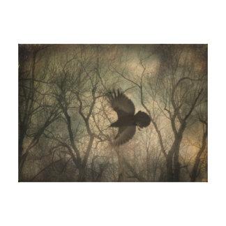 Waldraben-Natur-Kunst Leinwanddruck