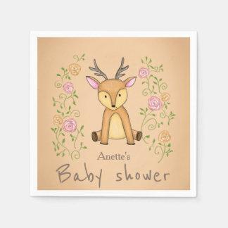 Waldrotwild-Blumen-Waldbaby-Dusche Serviette