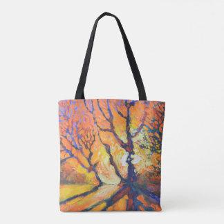 Waldsonnenuntergang - Natur-Tasche Tasche