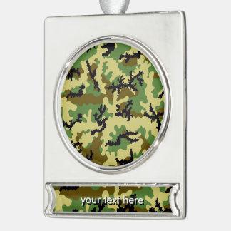 Waldtarnung Banner-Ornament Silber