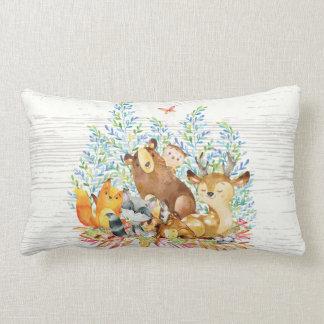 Waldtier-Baby-Kinderzimmer-Kissen Lendenkissen