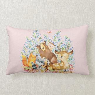 Waldtier-Baby-Mädchen-Kinderzimmer-Kissen Lendenkissen