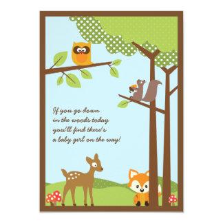 Waldtier-Babyparty-Einladung 12,7 X 17,8 Cm Einladungskarte
