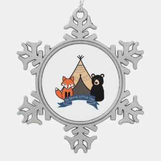 Waldverzierung für Baby Schneeflocken Zinn-Ornament