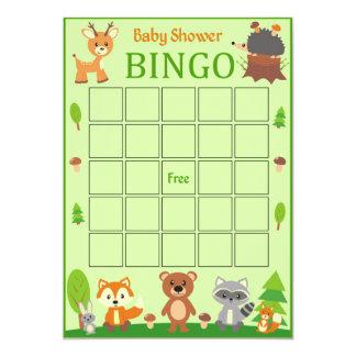 WaldwaldtierBabyparty-Bingo-Karte Karte
