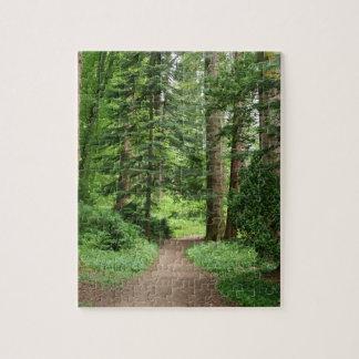 Waldweg, Hochländer, Schottland Puzzle