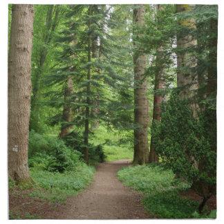 Waldweg, Hochländer, Schottland Stoffserviette