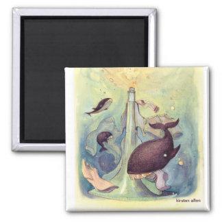 Wale im Wäsche-Magneten Quadratischer Magnet