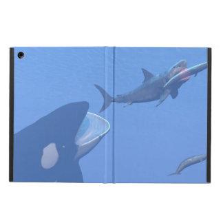 Wale und megalodon Unterwasser - 3D übertragen