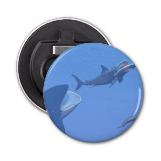 Wale und megalodon Unterwasser - 3D übertragen Flaschenöffner
