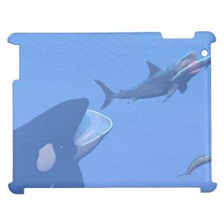 Wale und megalodon Unterwasser - 3D übertragen iPad Hülle