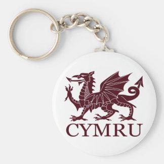 Wales CYMRU Standard Runder Schlüsselanhänger