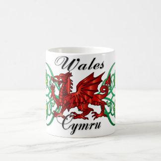 Wales, Cymru, Waliser-Tasse mit Drachen u. Tasse