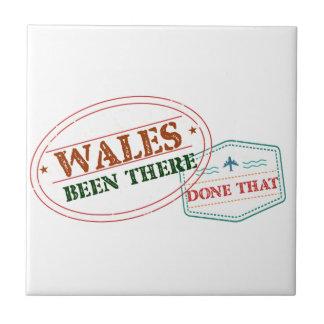 Wales dort getan dem fliese