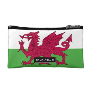 Wales-Flagge Kosmetiktasche