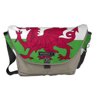 Wales-Flagge Kuriertasche