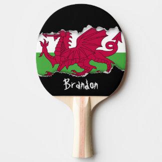 Wales-Flagge Tischtennis Schläger