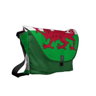 Wales-Flaggen-Rickshaw-Bote-Tasche Kuriertasche