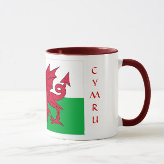 Wales-Flaggen-Tasse Tasse