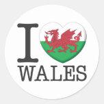 Wales Runder Sticker