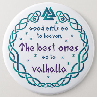 Walhall-Mädchen Runder Button 15,3 Cm