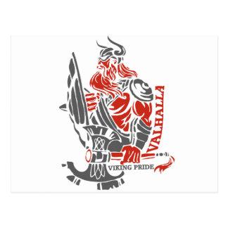 Walhall - Viking-Stolz - Schild-und Axt-Entwurf Postkarte