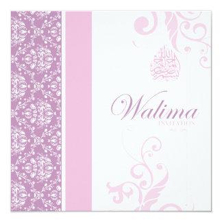 Walima Einladung - rosa islamische Hochzeit