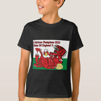 Waliser-Drache, 6 Nations-Meister, Wales V England T-Shirt
