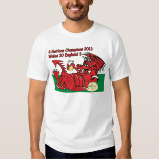 Waliser-Drache, 6 Nations-Meister, Wales V England T-shirt