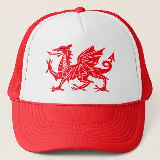 Waliser-Drache-Fernlastfahrer-Kappe Truckerkappe