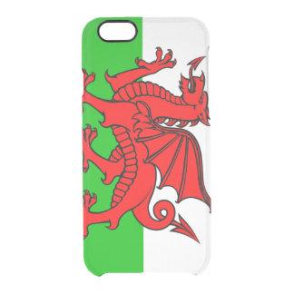 Waliser-Flagge Durchsichtige iPhone 6/6S Hülle