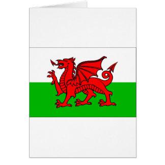 Waliser-Flagge Karte