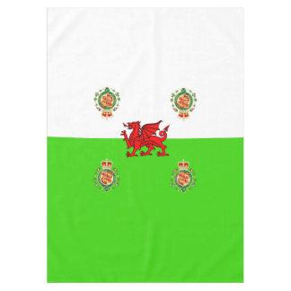 Waliser-Flagge Tischdecke