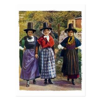 Waliser-Mädchen-Postkarte Postkarte