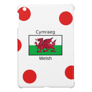Waliser-Sprache und Wales-Flaggen-Entwurf iPad Mini Hülle