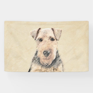 Waliser-Terrier-Malerei - niedliche ursprüngliche Banner