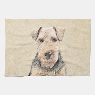 Waliser-Terrier-Malerei - niedliche ursprüngliche Geschirrtuch