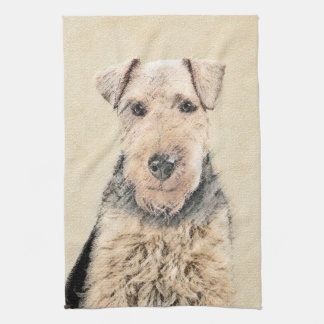 Waliser-Terrier-Malerei - niedliche ursprüngliche Küchentuch