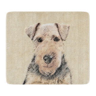 Waliser-Terrier-Malerei - niedliche ursprüngliche Schneidebrett