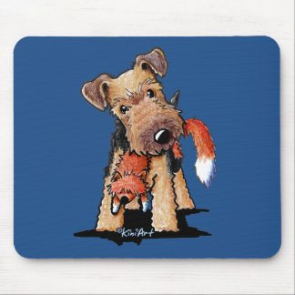 Waliser Terrier mit SpielzeugFox Mauspad