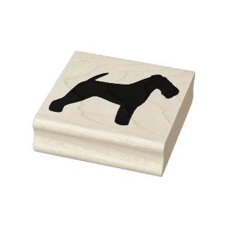 Waliser-Terrier-Silhouette Gummistempel