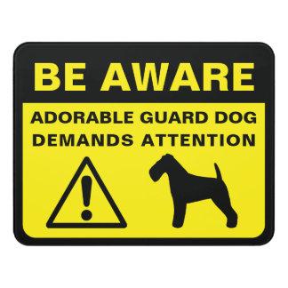 Waliser-Terrier-Silhouette-lustiges Türschild