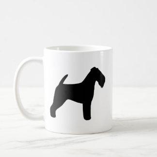Waliser-Terrier-Silhouetten Kaffeetasse