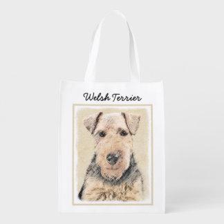 Waliser Terrier Wiederverwendbare Einkaufstasche