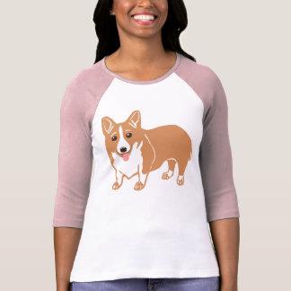 Walisercorgi-Damenraglan-T - Shirt