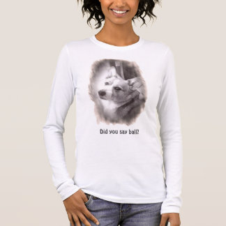 WaliserCorgi, der Sie betrachtet Langarm T-Shirt