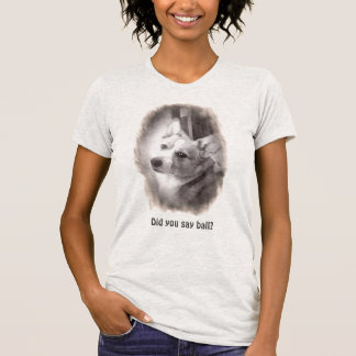 WaliserCorgi, der Sie betrachtet T-Shirt