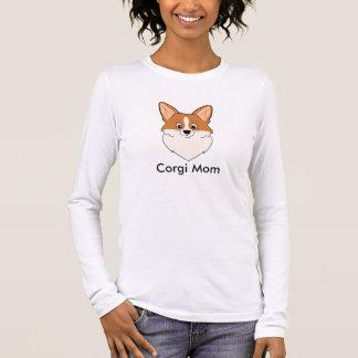 Walisercorgi-Mamma Langarm T-Shirt